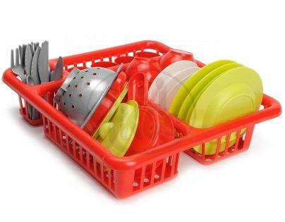 Ecoffier Velký odkapávač s nádobím - Červená