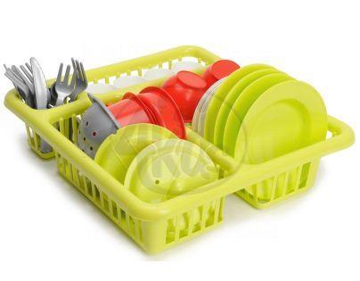 Ecoffier Velký odkapávač s nádobím - Zelená