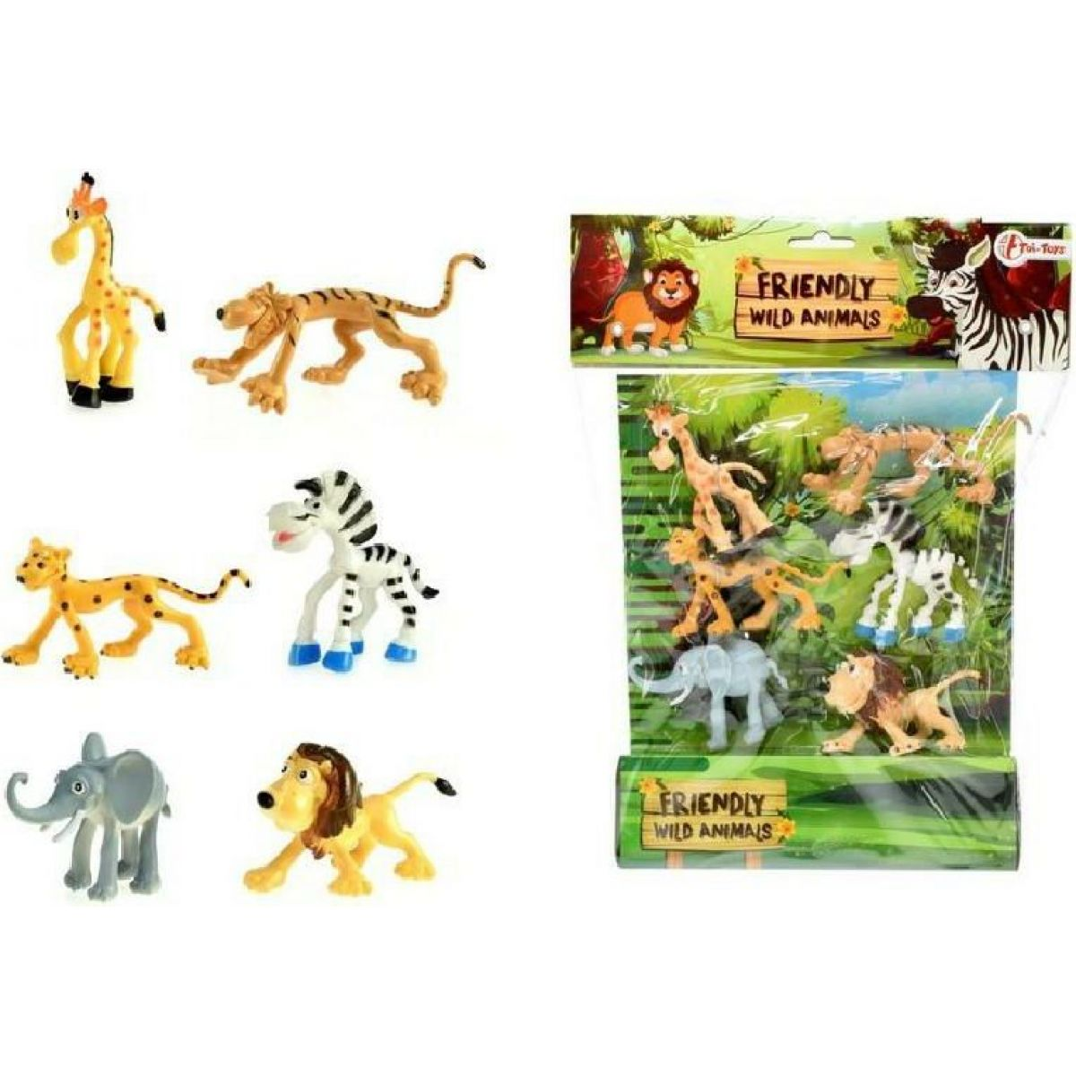 Veselá zvířátka Safari 6ks v sáčku