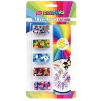 Easy Vícebarevné voskovky obdélníkový tvar 5 barev