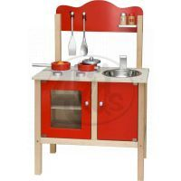 Viga Kuchyň červená s příslušenstvím