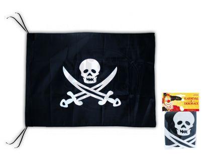 Rappa Vlajka pirátská s potiskem 50x50cm