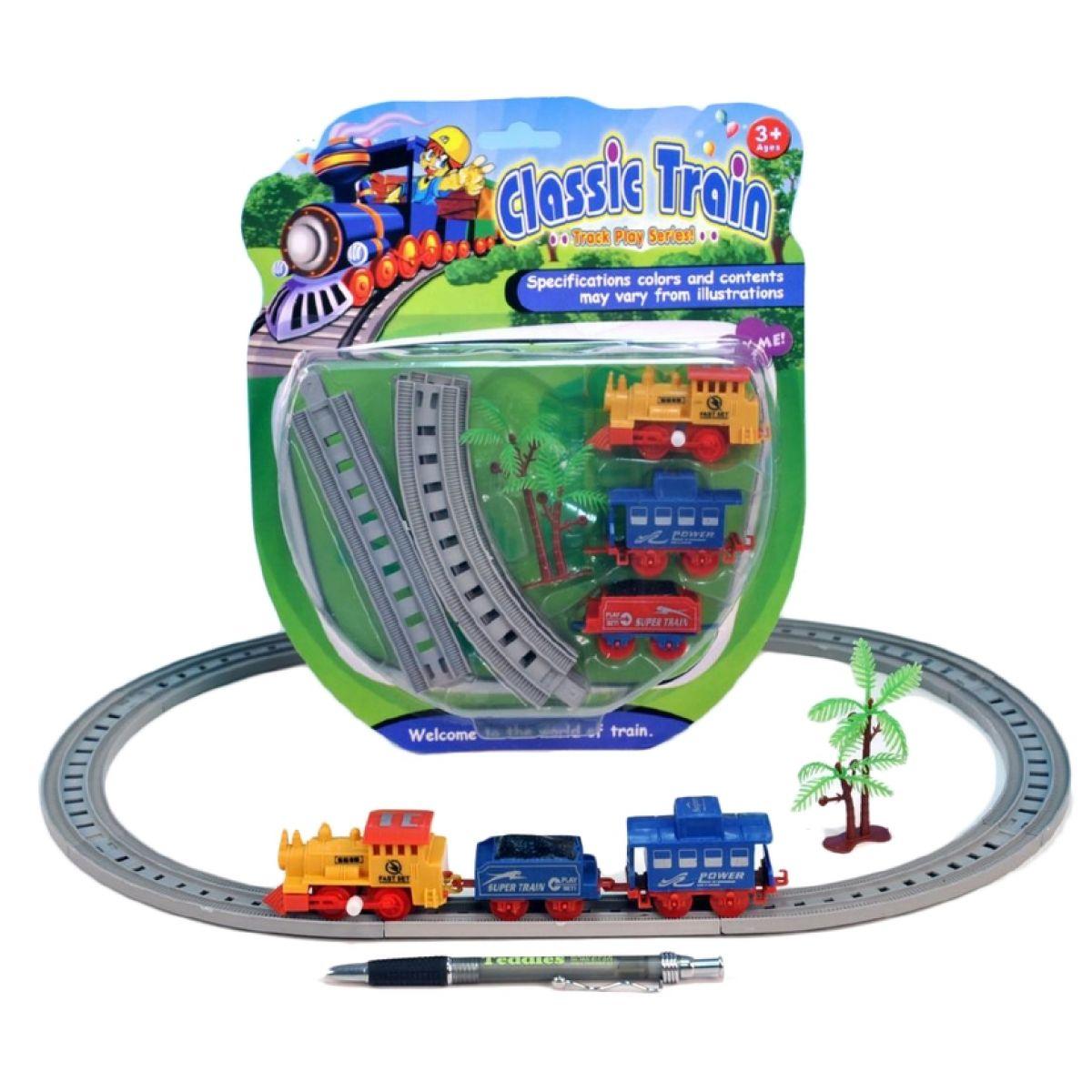 Vlak na klíček s 2 vagónky a dráhou