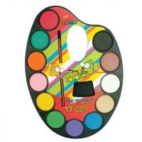 Easyoffice Vodové barvy Malířská paleta 12 barev