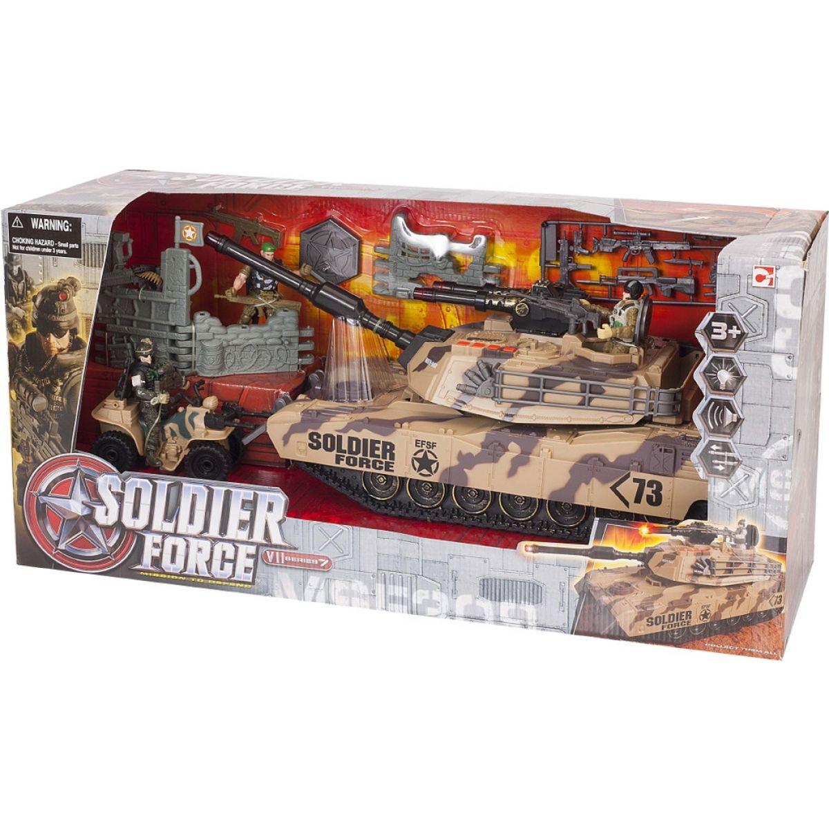 Vojenská sada s tankem a doplňky
