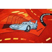 Vopi Cars koberec červený 200 x 200 cm 4
