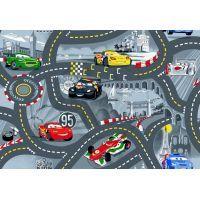 Vopi Cars koberec šedý 200 x 200 cm