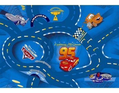 Vopi Cars koberec modrý 200 x 200 cm