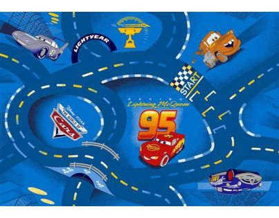 Vopi Cars koberec modrý 140 x 200 cm