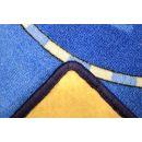 Vopi Cars koberec modrý 200 x 200 cm 2