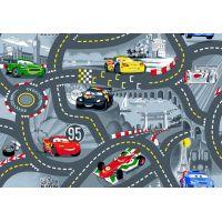 Vopi Cars koberec šedý 133 x 165 cm