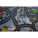Vopi Cars koberec šedý 200 x 200 cm 2