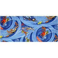 Vopi Planes Dětský koberec modrý 200x200cm