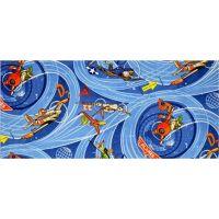 Vopi Planes modrý dětský koberec 80 x 120 cm