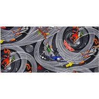 Vopi Planes šedý dětský koberec 80 x 120 cm
