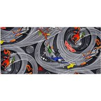 Vopi Planes šedý dětský koberec 140 x 200 cm