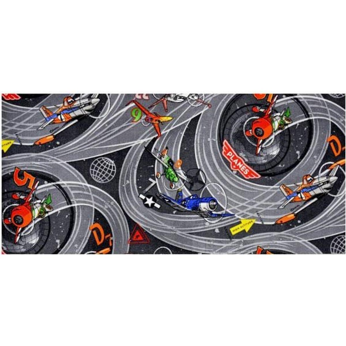 Vopi Planes Dětský koberec šedý