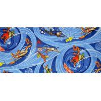 Vopi Planes modrý dětský koberec 95 x 200 cm