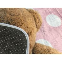 Vopi Ultrasoft koberec Medvídek růžový 70 x 100 cm 2