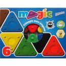 Voskovky magické trojboké Basic 6 ks 2