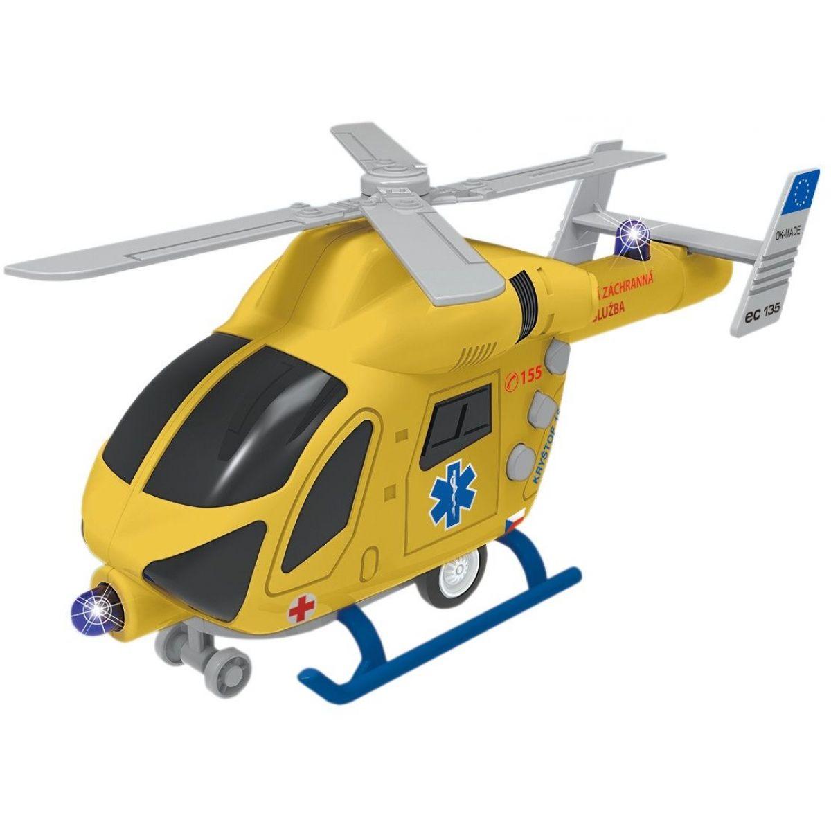 Vrtuľník záchranný na zotrvačník so svetlom a zvukom