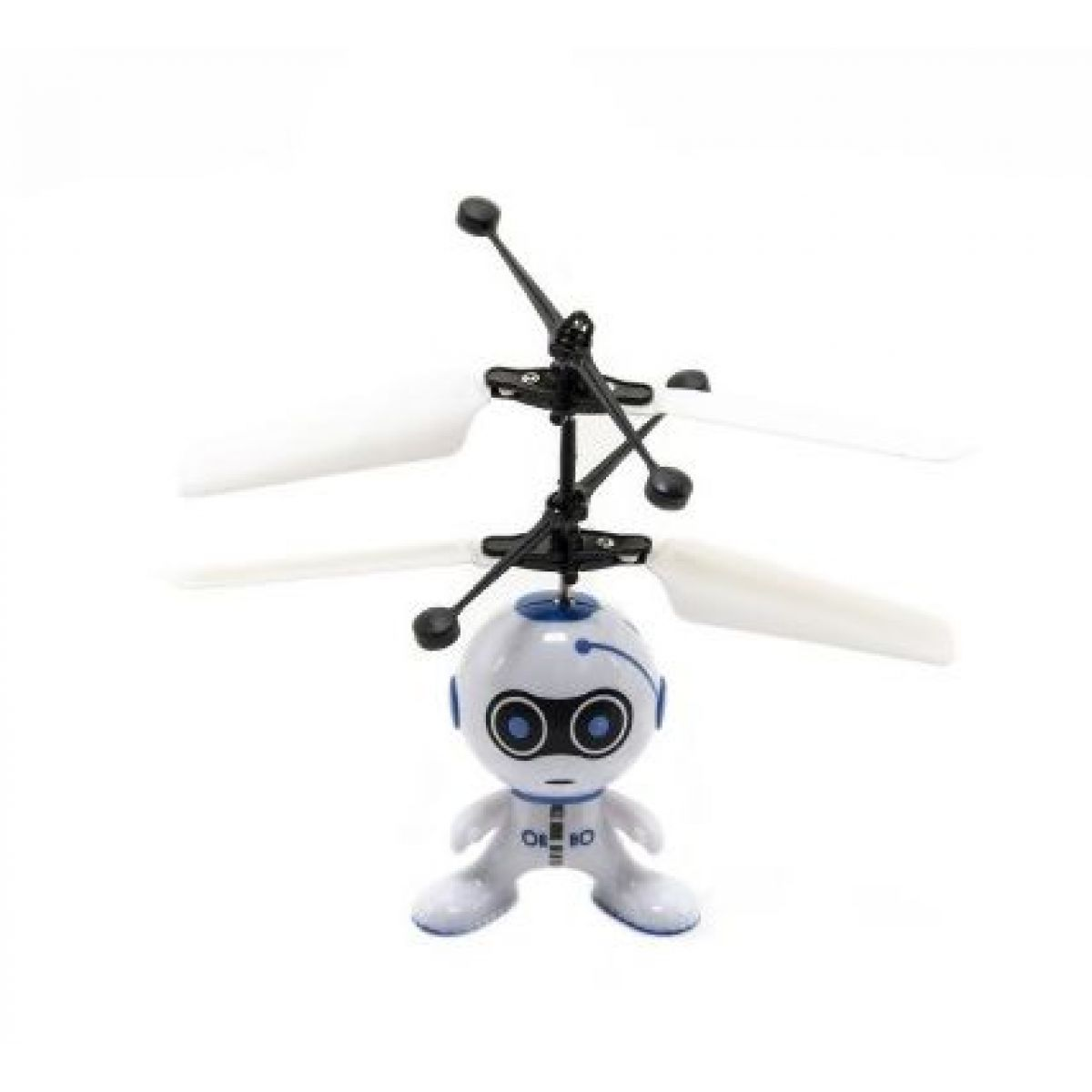 Vrtulníkový robot létající s USB kabelem modrý