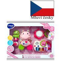 Vtech První dárek pro miminko CZ růžový