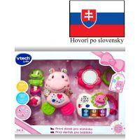 Vtech Prvý darček pre bábëtko SK růžový