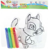Vybarvovací kočka s fixy