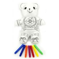 Vymaluj si svého medvídka 30 cm a fixy 7ks