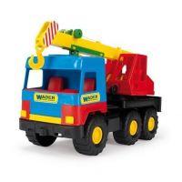 Wader Auto middle Truck jeřáb 36 cm Modrá kabina