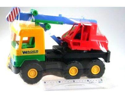 Wader Auto middle Truck jeřáb 36 cm Žlutá kabina