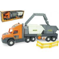 Wader Auto Super Tech Truck kontejner oranžová kabina