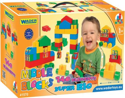 Wader 41570 Kostky Middle Block Super Big 140 dílků