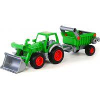 Wader Traktor Farmář s lopatou a přívěsem 1 osa