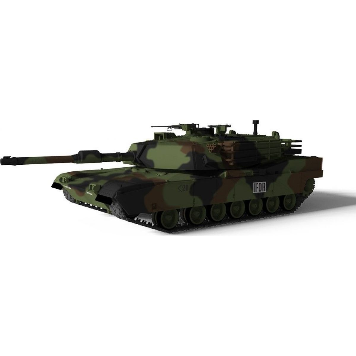 Waltersons RC Tank US MBT M1A1 Abrams NATO 1:72