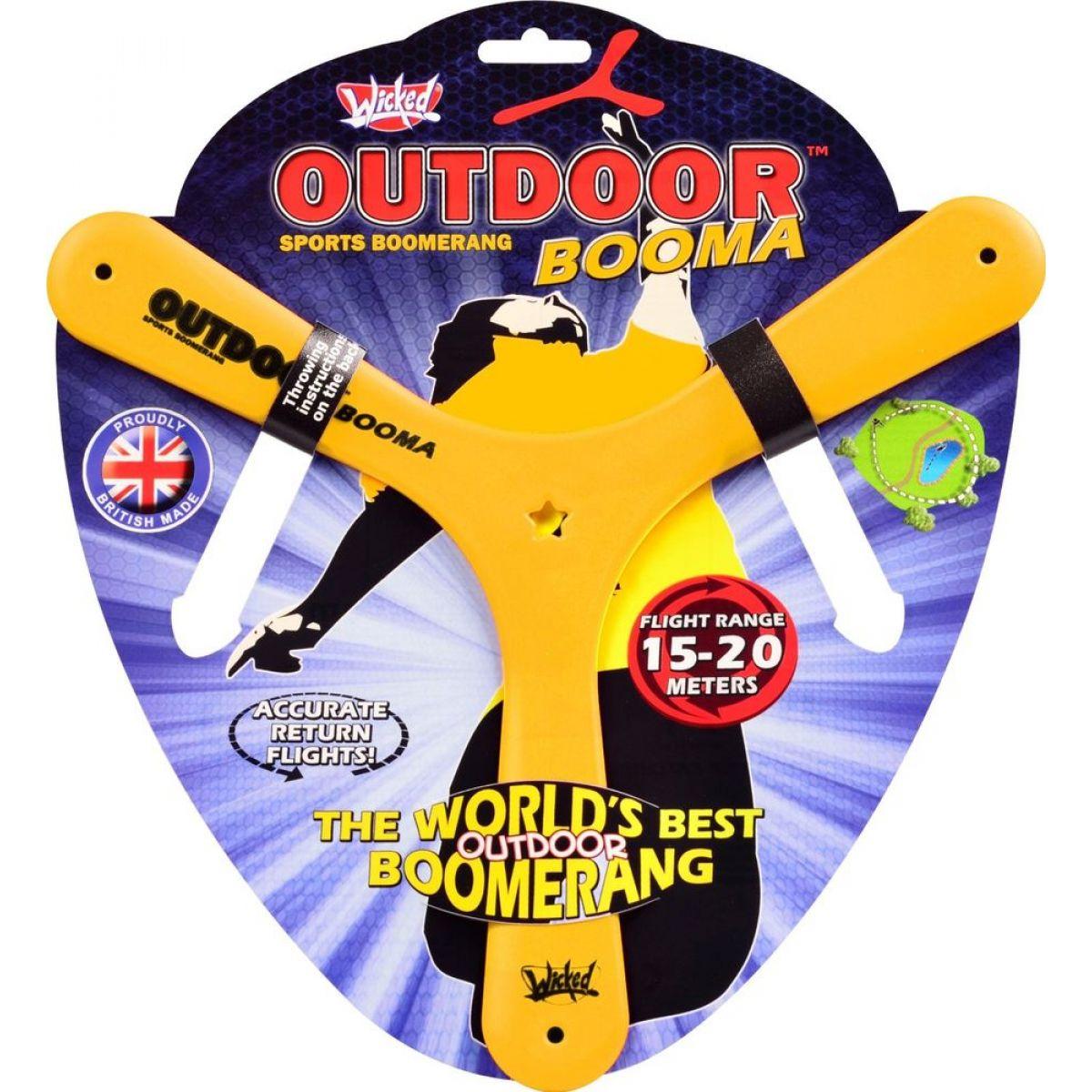 Wicked Outdoor Booma Bumerang - Žlutý