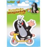 Wiky Krteček Magnet 3D 7,5 cm koloběžka