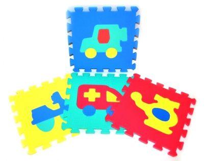 Pěnové puzzle Dopravní prostředky 10ks