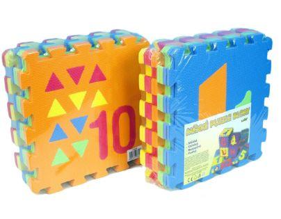 Wiky 118630 - Pěnové puzzle Počítání / Tvary 30x30cm 10ks