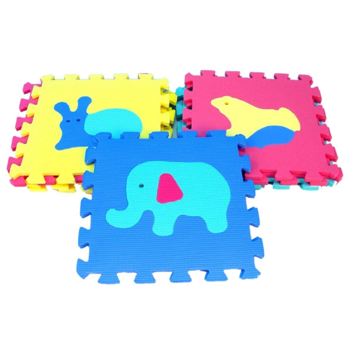 Wiky Pěnové puzzle Zvířata 30 x 30 cm 10 ks v sáčku