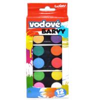 Wiky Vodové farby 12 farieb v krabičke 2
