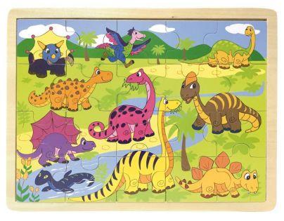 Woody Puzzle dinosauři 20 dílků