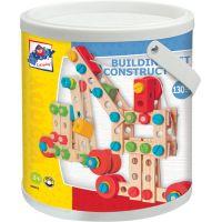 Woody Constructor Montážní stavebnice v kyblíku 130 dílů