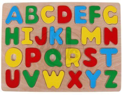 Woody Puzzle na desce Abeceda