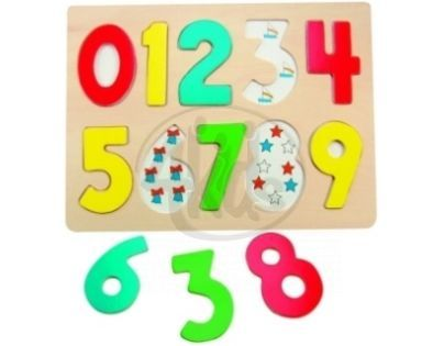"Woody 90325 - Puzzle na desce ""Číslice s beruškami"""