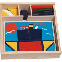 Woody Didaktická vkládačka v dřevěné krabičce 10 obrázků