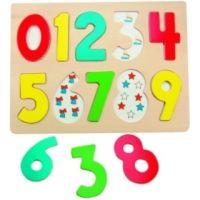 Woody Dřevěné puzzle Číslice s písmenky