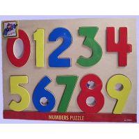 Woody Puzzle na doske Číslice s pismenkami 2