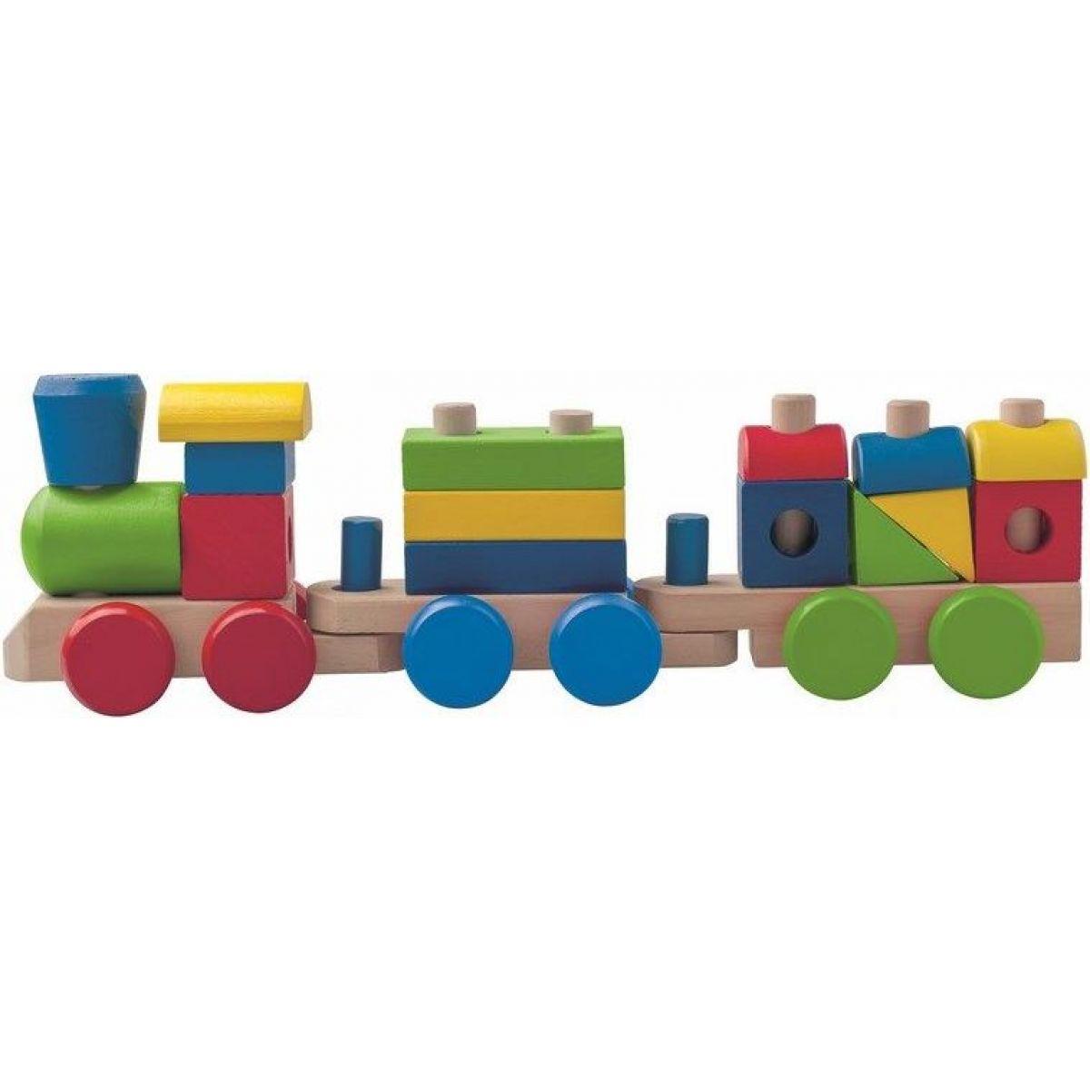 Woody Dřevěný skládací nákladní vlak se dvěma vagony